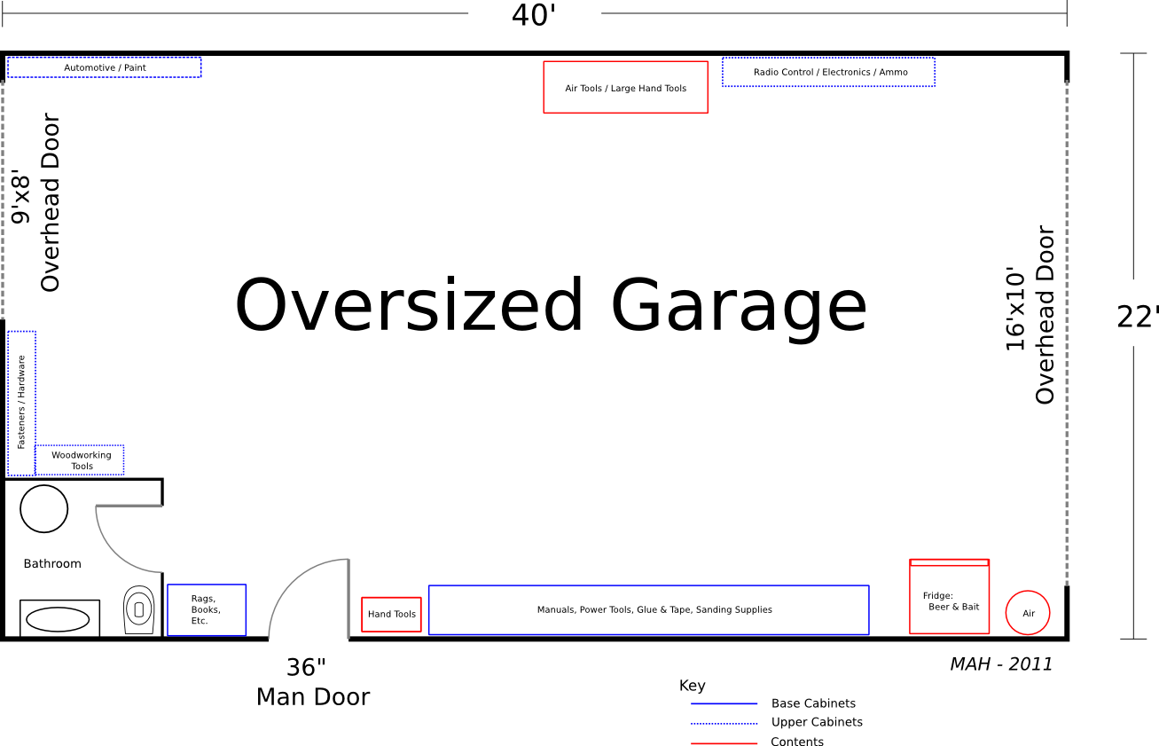 Simple Detached Garage Floor Plans Placement