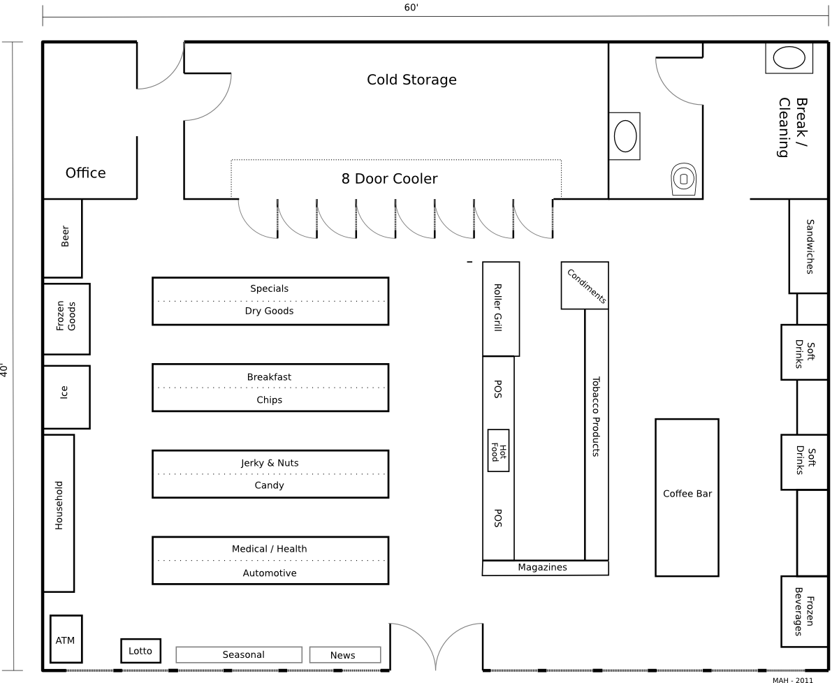floor plan convenience store mithril and mages